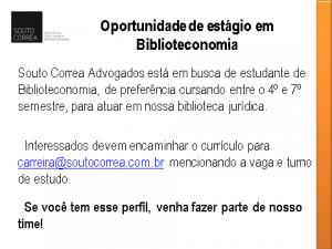 Estágio Biblioteconomia