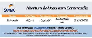emprego_bibliotecario_cacador_sc